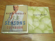 Celebrity Chef ALFRED PORTALE signed 12 SEASONS COOKBOOK 2000 Book COA