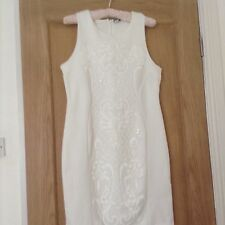 White Mini Dress with sequins For Party Or Wedding - size 16 by New Look