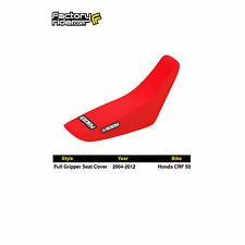 2004-2012 HONDA CRF 50 All Red FULL GRIPPER SEAT COVER BY Enjoy MFG