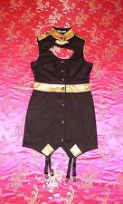 LIP SERVICE FETISH ALLIANCE BLACK GOLD GARTER DRESS M 49-290 NWOT
