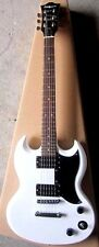 Full Size Electric Guitar,Double Cutaway,White,  CEG-12-WH