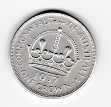 1937 Sterling Silver Crown Coin Australia King George V1 Top Grade T-631