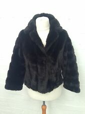 Womens Vintage Tyber Faux Fur Coat - Uk14 - Great Condition