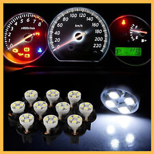 10x White 4SMD T10 1210 W5W LED Socket Instrument Panel Cluster Tail Plate Light