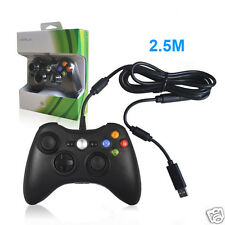 New 2.5M Wired USB Game Pad Controller for Microsoft Xbox 360 Console Black