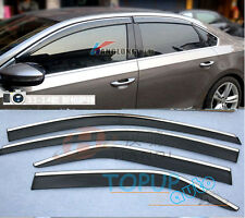 FIT FOR 2012 2013 VW PASSAT WIND DEFLECTOR RAIN DOOR GUARD WINDOW VISOR SHIELD