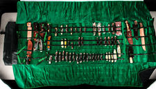 Schrade Traveling Knife Salesman Leather Bag with 57 NOS Knives