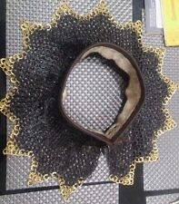 chainmail coller (neck proction) ~ 9 MM flat riveted with bress ring zig,zak