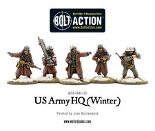 Warlord Games Bolt Action BNIB US Army HQ (Winter) WGB-WAI-20