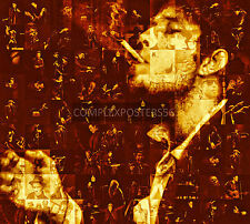 LARGE MOSAIC PHOTO POSTER IN VARIOUS COLOURS OF TOM WAITS No 1