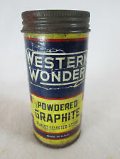 Vintage Western Auto Stores Western Wonder empty powdered graphite can