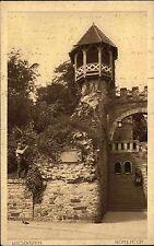 WIESBADEN Hessen AK um 1920 Mann am Römertor mit Turm alte Postkarte ungelaufen
