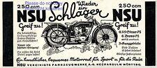 Motorrad NSU 250 ccm Reklame von 1927 Neckarsulm Werbung