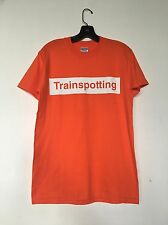 Vintage Trainspotting T shirt box logo Movie Soundtrack 90s Orange tee Size S