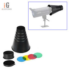 Photography Studio Flash Conical Snoot Light Control for Bowens Mount Strobe