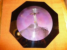 """«TOTO """"Georgy Porgy""""  Picture Disc Octagon Shaped 10½"""" LP 45Rpm–Columbia Records"""
