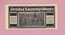 COBURG, Werbung 1914, Derichs & Sauerteig Wintergarten-Möbel