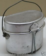 Italian aluminium Mess Kit 2 pieces with wire handle set E2918