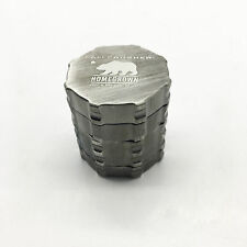 Silver Cali Crusher Herb Spice Tobacco Grinder 45mm 4 layer Aluminum Alloy