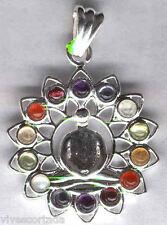Colgante EXPANSION CONSCIENCIA con los siete chakras en mineral, dobles