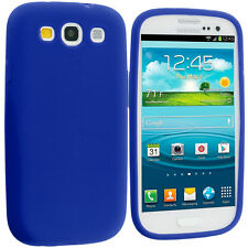Blue Silicone Skin Case Cover Accessory for Samsung Galaxy S3 S III