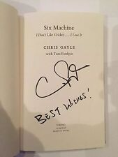 Chris Gayle AUTOGRAPHED Book- SIX MACHINE-see photo signing proof attached