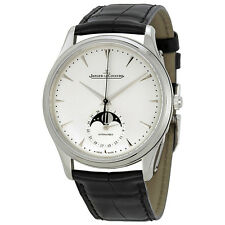 Jaeger LeCoultre Master Silver Dial Leather Mens Watch Q1368420