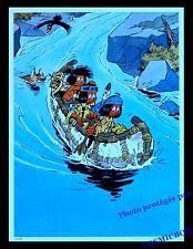 YAKARI et ses amis en canoe Graine de Bison AFFICHE chambre poster indien enfant