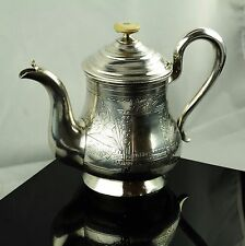 1895 Art Deco Moscow Russian Estonia 84 SILVER TEAPOT HAND CHASED CARVED Unique