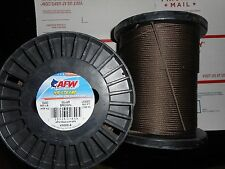 American Fishing Wire 7x7 49-Strand Stainless Camo Brown Leader  900lb 500'