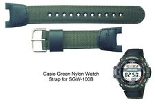 Genuine Casio Watch Strap.Replacement Casio SGW-100B Watch Strap-Green Nylon