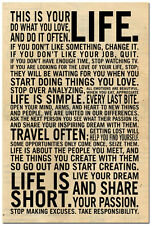 This Is Your Life - Motivational Inspirational Quote Art Silk Poster 24x36 inch