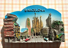 TOURIST SOUVENIR 3D RESIN FRIDGE MAGNET -- Barcelona , Spain