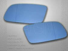 1999-2001 AUDI A4 B5 FACELIFT BLUE MIRROR GLASS SET  HEATED LEFT RIGHT WITH BASE