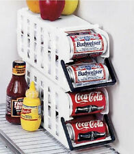 Set of 2 Fridge refrigerator soda beer Can Dispenser rack organizer with handle
