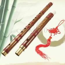 61cm Handmade Bamboo Flute in D Key+Membrane+Knot+Bag Traditional Instrument