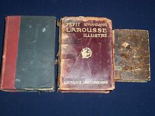 1892-1915 FOREIGN LANGUAGE DICTIONARIES LOT 3 DIFFERENT FRENCH GERMAN- KD 2339