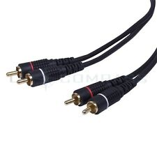 50FT 2RCA Male To 2RCA Male M/M Composite Stereo Audio Video Digital Coax Cable