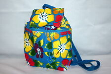 Backpack Purse Hibiscus Hawaiian Flower Print Boho Drawstring Adjustable Strap