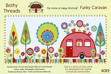 BOTHY THREADS FUNKY CARAVAN COUNTED CROSS STITCH KIT BY CAROLINE ROSE NEW 2015