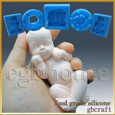 3D Silicone Soap/sugar/fondant/chocolat Mold-Lifelike / Newborn Baby Ryan