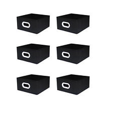 6 pcs Home Storage Box Bins Household Organizer Fabric Box Basket Container