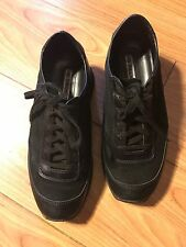 Ann Demeulemeester Black Leather Sneakers Sz 37