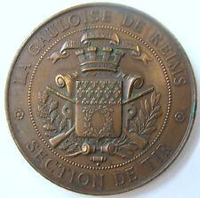 Médaille ancienne bronze TIR La Gauloise de REIMS par Robineau fils