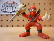 Marvel Super Hero Squad RARE HAND NINJA Red from Wave 8 Samurai Wolverine Pack