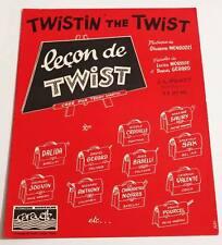 Partition sheet music DALIDA / LES CHAUSSETTES NOIRES : Leçon de Twist * 60's