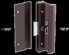"""Black Clamp-Style Surface Mount Handle 4-15/16"""" Screw Holes"""