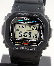 Casio DW5600E-1V G-SHOCK Mens Black Digital Watch Classic Shock Resistant New
