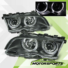 [LED Halo] 1999 2000 2001 BMW E46 3 Series Coupe Black Projector Headlights