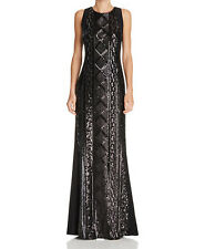 Adrianna Papell New Sequin Front Gown Size 10 MSRP $199 #HN 422